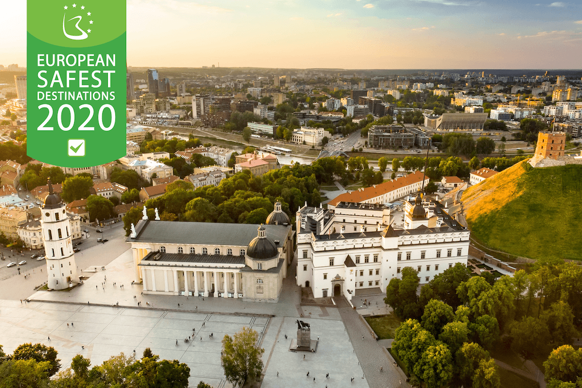 Vilnius - one of the safest destinations in Europe 2020
